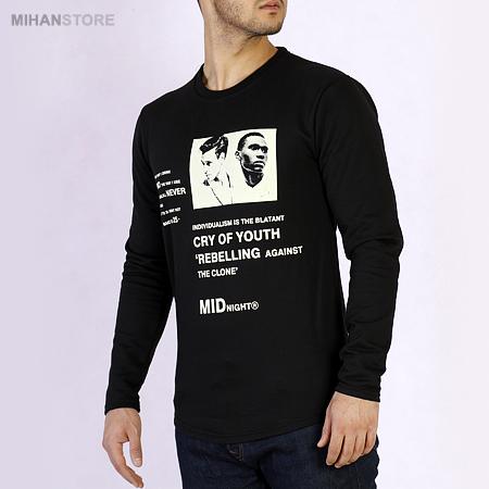 خرید آنلاین تیشرت مردانه استین بلند ربل